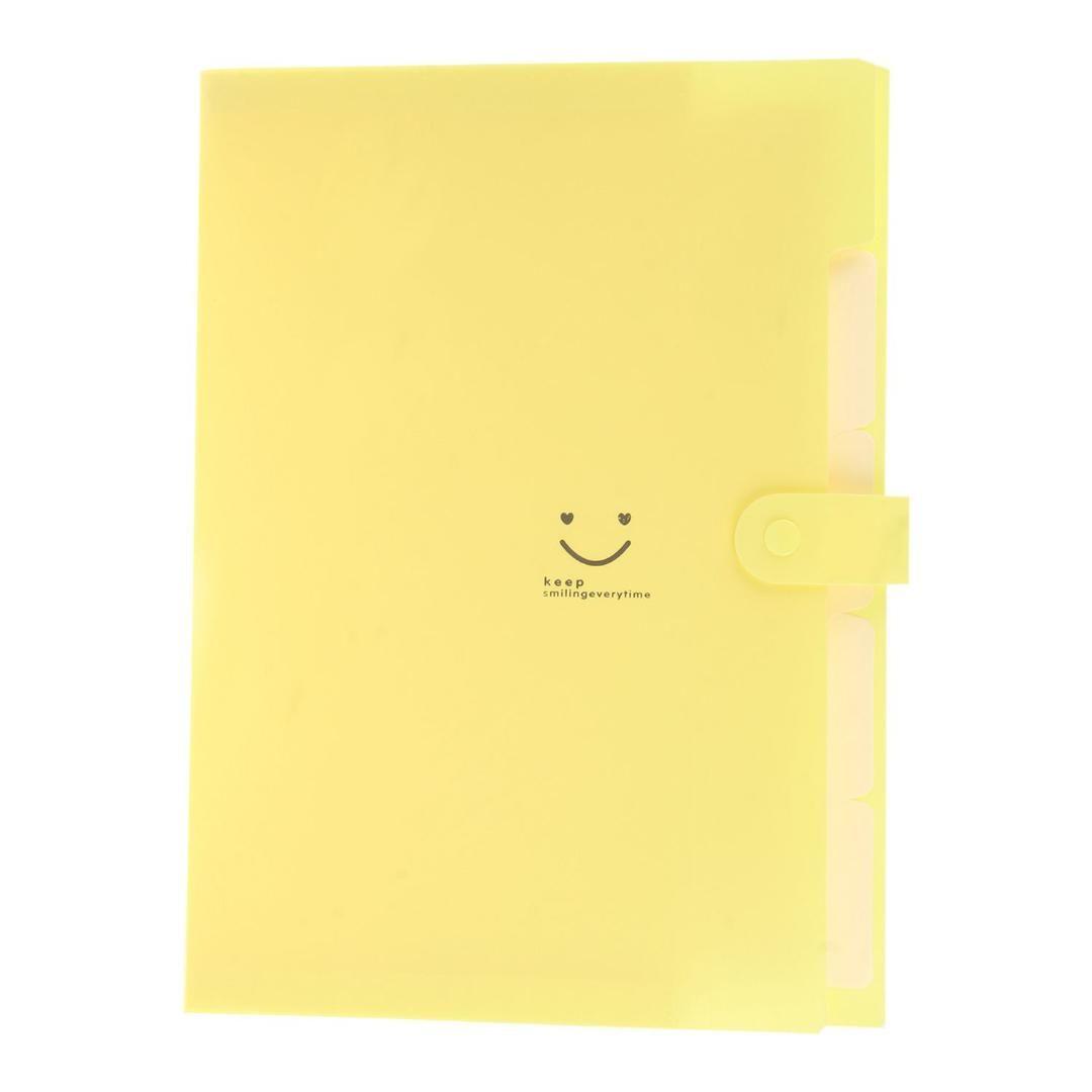 8e45fce7e11 2019 Kawaii FoldersStationery Carpeta File Folder 5layers Archivadores  Rings A4 Document Bag Office Carpetas From Gor2don