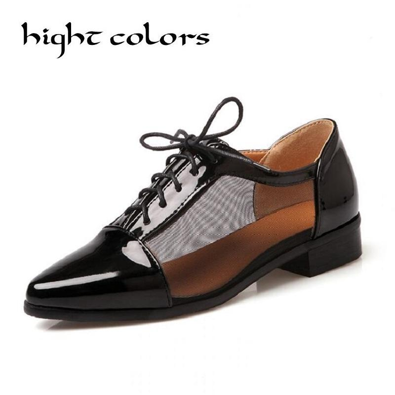 e9c7970e8c72 Flat Shoes 2018 British Style Summer Oxfords For Women Flat Heel Pointed  Toe Japanned Leather Cutout Casual Shoes Womens Sandals Orthopedic Shoes  From ...