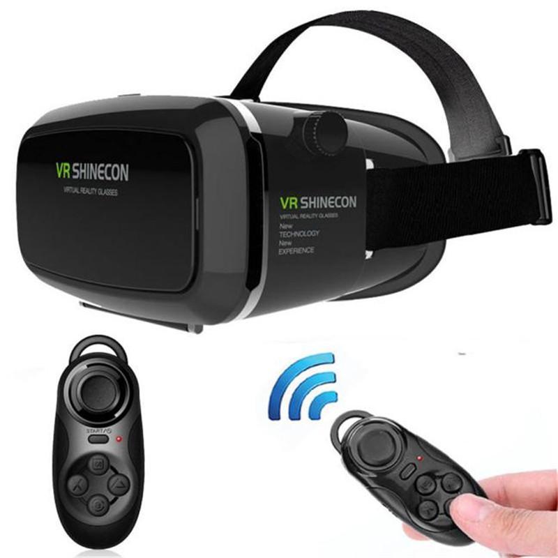 831eb537b2372 Compre Realidade Virtual 3D VR Shinecon Óculos 3D Cabeça Montar Jogos De  Filmes + Controlador Bluetooth Para 4.7 6.0 Polegada Smartphone Atacado De  ...