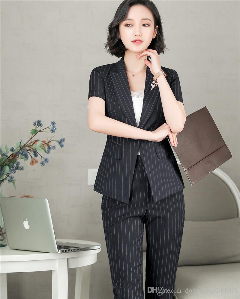 166a3aa980aa 2019 2018 Summer New Fashion Style Elegant Office Uniform Designs ...