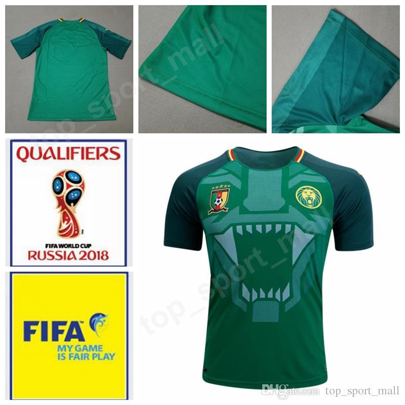 3d55adce6ef Cameroon Jersey National Team 2018 World Cup 10 Vincent Aboubakar ...