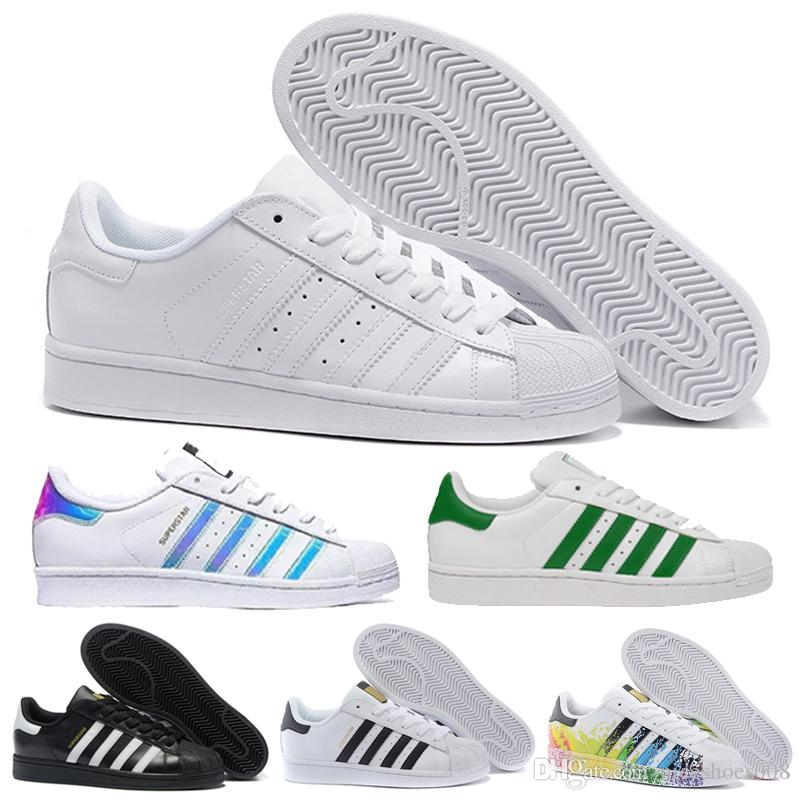 online store 94e0c 7a790 2018 2018 Originals AD Superstar White Hologram Iridescent Junior Superstars  80s Pride Sneakers Super Star Women Men Sport Running Shoes 36 44 From ...