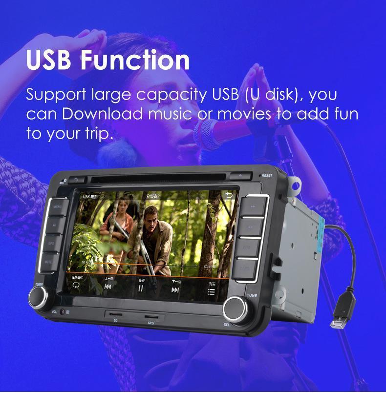 7 Polegadas 2 Din Car DVD Player de Navegação GPS Estéreo Rádio para Volkswagen VW Golf 6 Touran Passat B7 Sharan Touran Pólo Tiguan