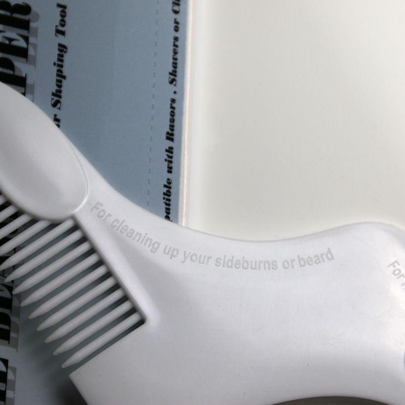 Nueva forma de Z Beard Bro Trimmer Shaping Tool Hombre del sexo Gentleman Beard Trim Template Barba peines Shaving Hair Comb