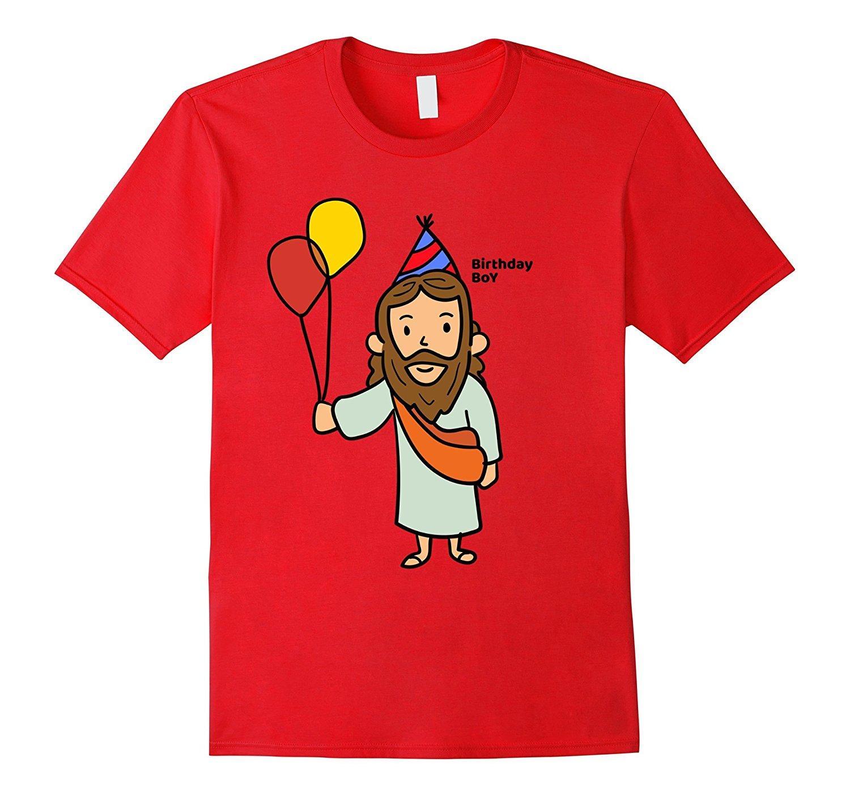 Grosshandel Gedruckte T Shirts Online Herren Jesus Birthday Boy Shirt