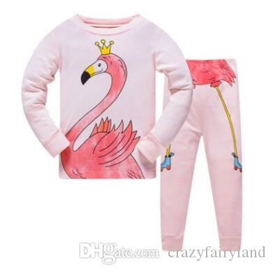 Unisex Christmas Pajamas Girls Boys Kids Long Sleeve 100% Cotton Set Baby  Pyjamas Baby Girls Cartoon Unicorn Sleepwear Suit 3 8Y Personalized Pajamas  For ... 0f886e107