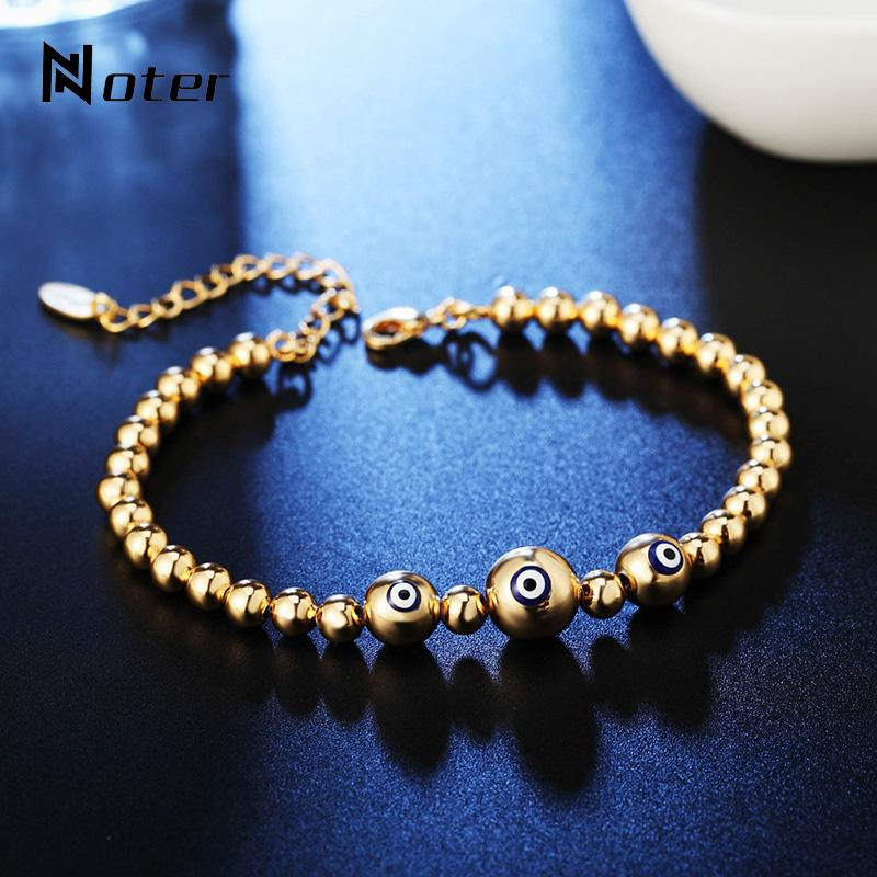 Trendy Alloy Evil Eyes Bracelet For Men Women Charm Adjustable Metal Braslet Gold Silver Colors Casual Jewelry Pulseras Hombre