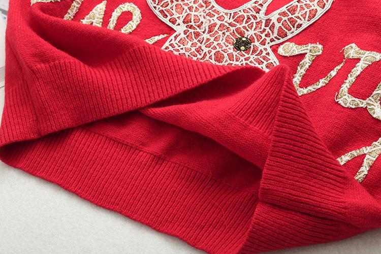 Бесплатно Inspirit 2018 Новая Мода Зима Женщины Рождество Лось Pattern Пуловер Свитер Палевый Вязание Теплое Дно Рубашка Свитер