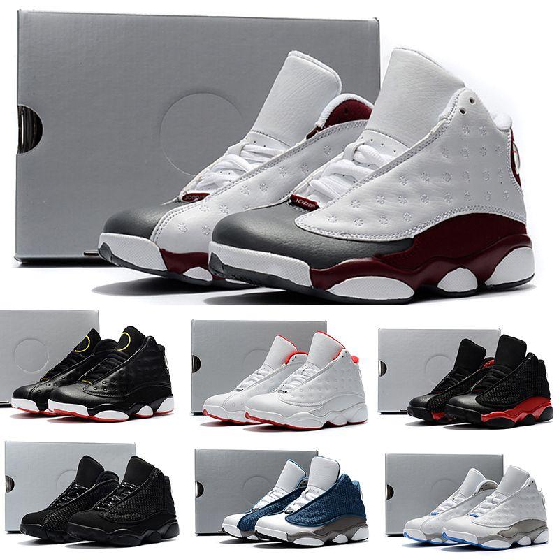 sale retailer dfb92 5cca4 Acheter Nike Air Jordan 1 6 11 13 Enfants Baskets 13 Chaussures De Basket  2018 Pour Garçons Filles Noir Rouge Blanc Noir Rose Pas Cher XIII Soldes  Haute ...