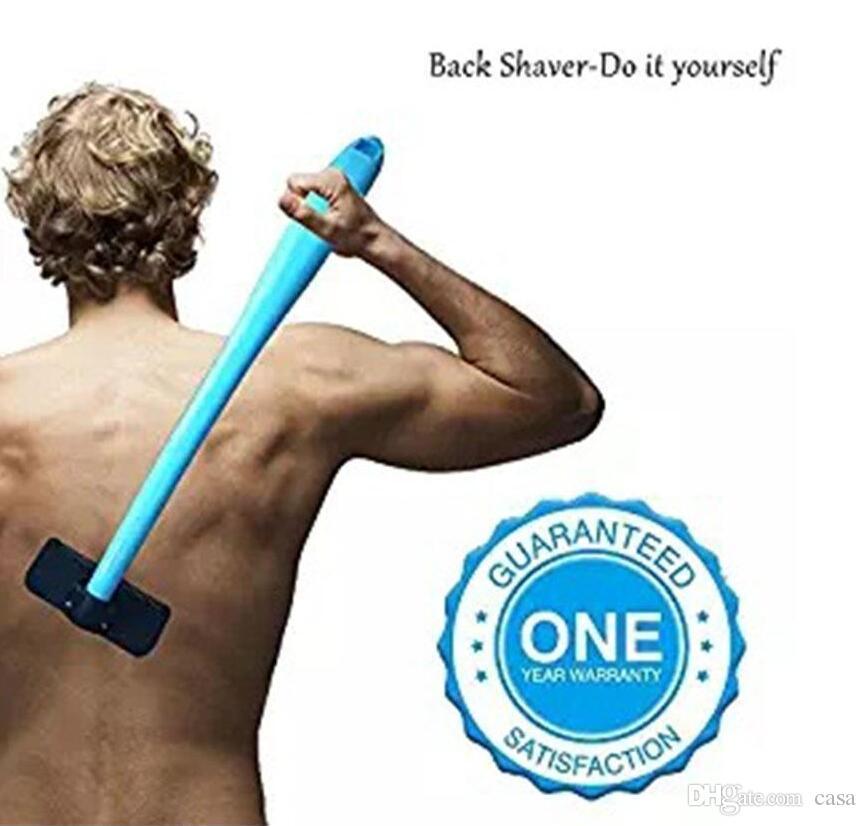 Nova Barbear Para Homens Manual de Volta Barbeador De Cabelo de Plástico Longo Lidar Com Navalha Para Todas As Peças Do Corpo Lâminas de Cabelo Removedor de Lâmina