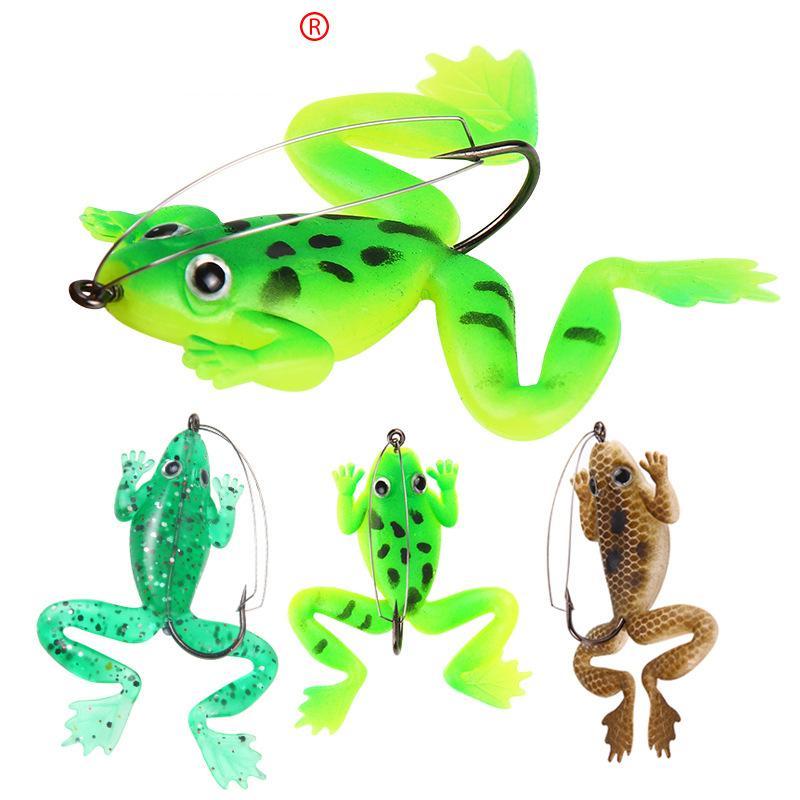 Großhandel Topwater Schwimmen Künstliche Gummi Ray Frog Locken 6 Cm