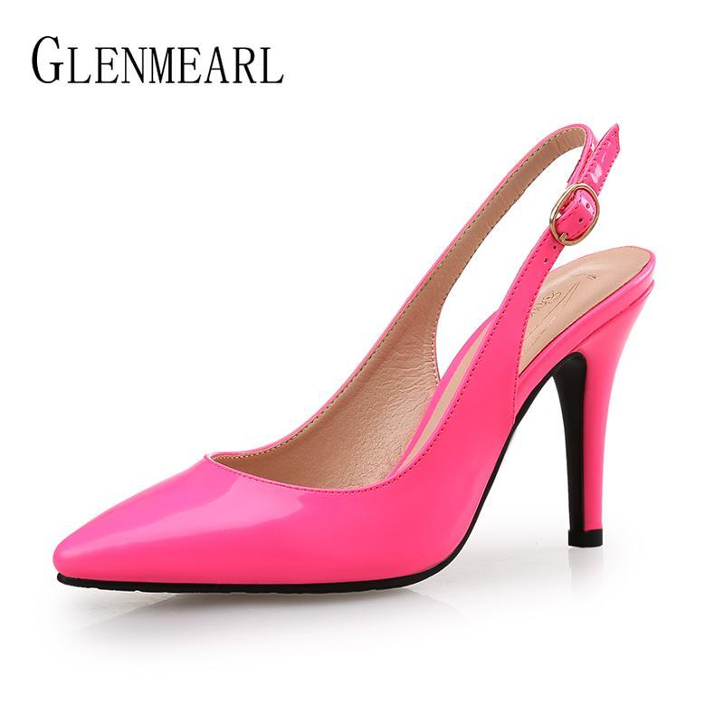 a964dcabb4d6 Women High Heels Wedding Pumps Sexy Pointed Toe Casual Female Shoes Fashion Ankle  Strap Thin Heels Ladies Shoe New Plus Size DE Mens Dress Boots Men Sandals  ...