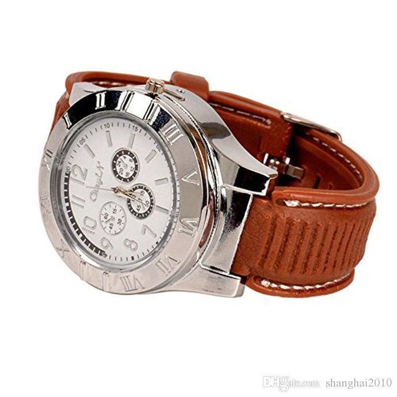 Orologio accendino 2 in 1 ricaricabile elettronico accendino USB carica senza fiamma sigaro orologi da polso accendino affari regali