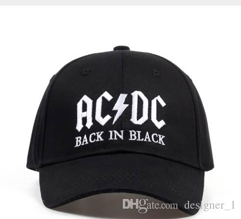 2cb240a9773 New AC DC Band Baseball Cap Rock Hip Hop Cap Mens Acdc Snapback Hat  Embroidery Letter Casual DJ ROCK Dad Hat Caps For Men Custom Baseball Hats  From ...