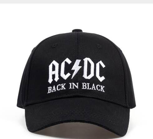 Compre Nueva Gorra De Béisbol De La Banda De AC   DC Gorra De Hip Hop De  Los Hombres Sombrero De Snapback De Acdc Del Mens Letra De Bordado Casual  DJ ROCK ... 20252ef6c4f