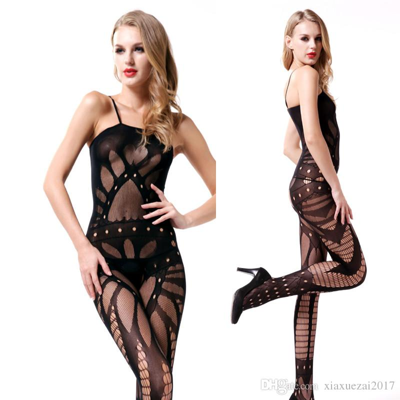 9ba646ecb44 2019 New Fishnet Hot Sexy Bodystocking See Through Mesh Bodysuit Sexy  Lingerie Hot Open Crotch Women Body Stockings Exotic Wear Underwear 2018  From ...