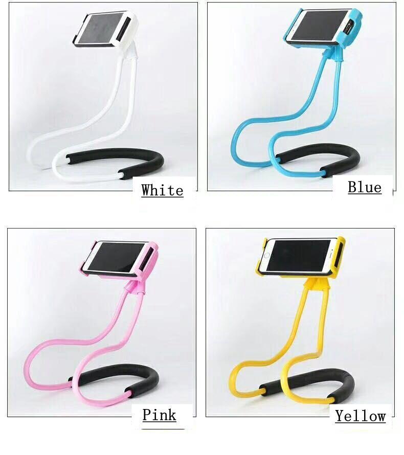 Lazy Bracket 360 Degree Rotation Flexible Phone Selfie Holder Snake-like Neck Bed Mount Anti-skid For iPhone Android