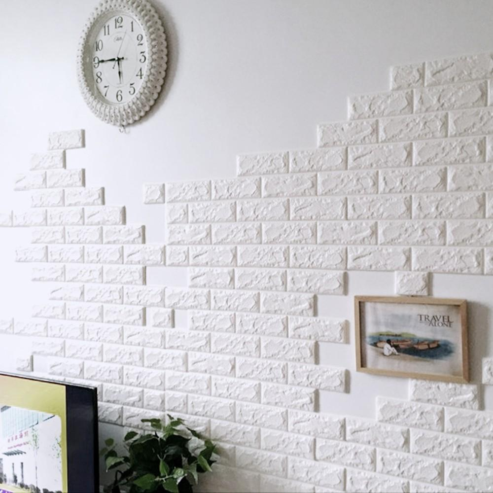 3d wall stickers home decor wallpaper diy wall brick living room kids bedroom decorative sticker 7030cm pe foam wall mural sticker wall mural stickers from