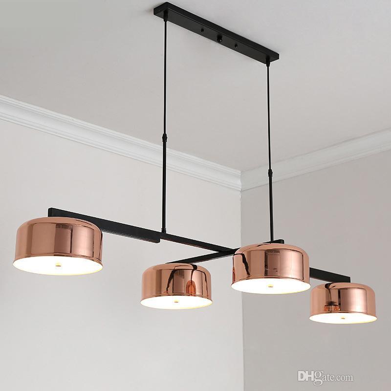 modern loft industrial chandeliers rose gold hanging light dining rh dhgate com
