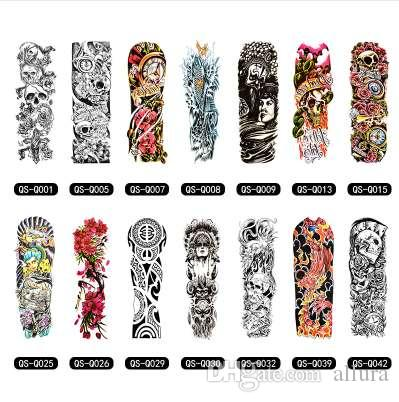 Temporary Tattoo Sleeve Designs Full Arm Waterproof Tattoos For Cool