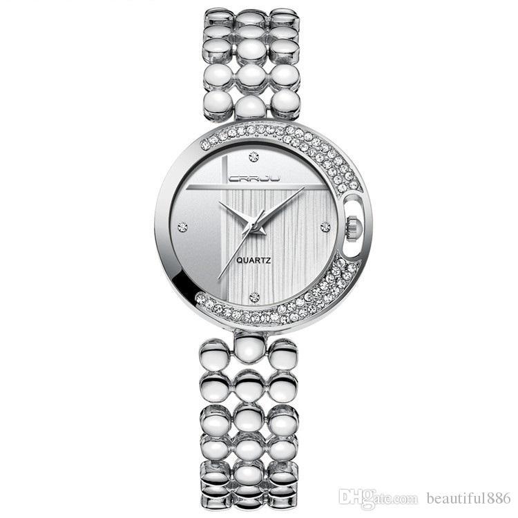 Ünlü Marka Altın Gümüş Moda Tasarım Bilezik Bayanlar Saatler Lüks Kadın Kuvars Rhinestone Saatı Sizin Lover Için Hediye Olarak