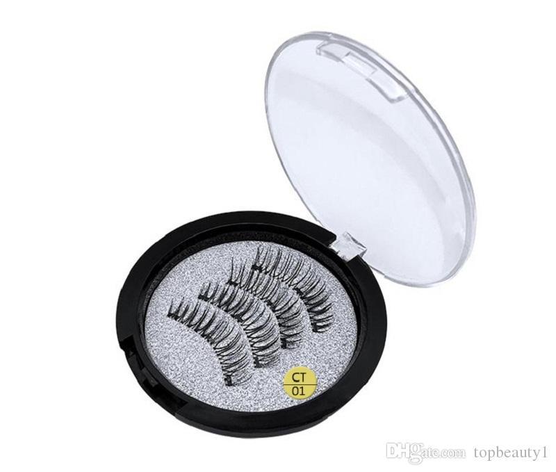 STOKTA! Makyaj 3 adet Mıknatıs Manyetik Yanlış Eyelashes 3D Vizon Kullanımlık Yanlış Eyelashes Uzatma 3d kirpik uzantıları kirpik DHL kargo