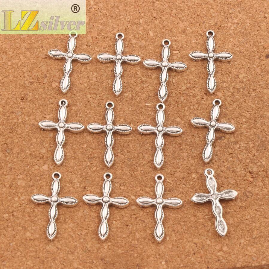 150 шт./лот крест религиозный шарм бусины 18.3x29.2 мм Тибетский Серебряный подвески ювелирные изделия DIY L465