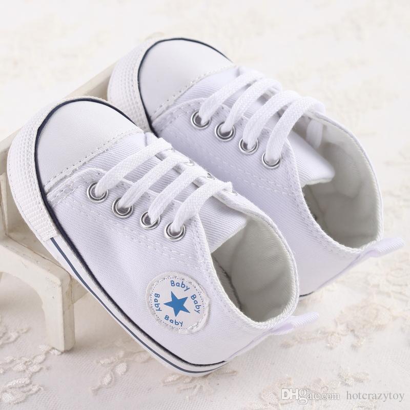 es / pas cher en gros de mode Enfants Bébé Chaussures de Sport Garçon Fille Premiers Marcheurs Sneaker Bébé Infant Mous Bottom Walker Chaussures Mode bébé