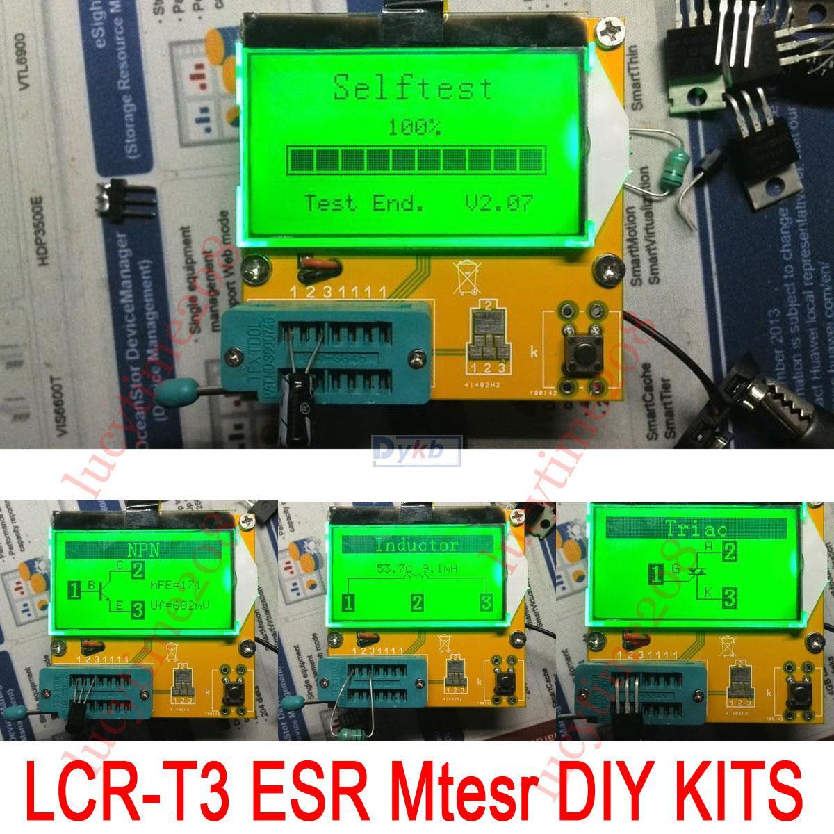 2018 Diy Kits Lcr T3 Mega328 Transistor Tester Diode Triode Thyristor Capacitor Inductance Resistor Scr Esr Meter Mos Pnp Npn From Zhenyuan666
