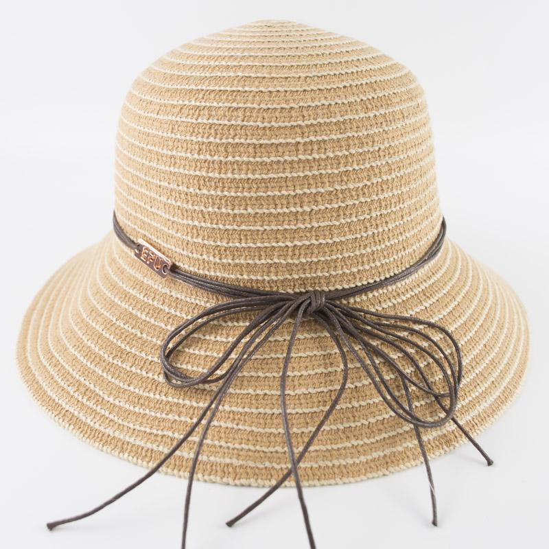 Compre Dama Suave Sombreros Raya De Color Todos Los Días Llevar Packable  Suave Para Mujer Cubos Sombreros Mujeres EDC Sombrero Flojo Sombreros De  Ala Ancha ... 7ea1472f975