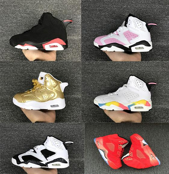 purchase cheap ade50 77408 Childrens Basketball Shoes Kids 6 Metallic Gold Sports Shoes Boys Girls  Youths Oreo Black Infrared Athletic Sneakers Cheap For Sale Kids Shoes 6  Sneakers ...