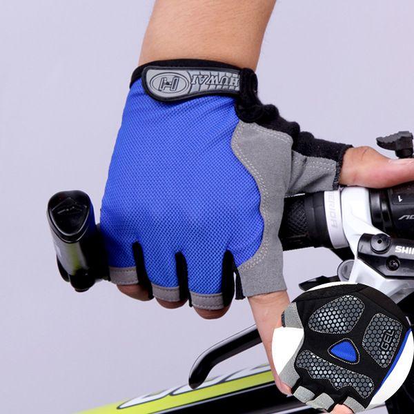 Summer Semi-Fingered Thin Mesh Breathable Gloves Men Women Outdoor Hiking Sports Anti-Skid Sun Proof Fitness Half Finger Gloves