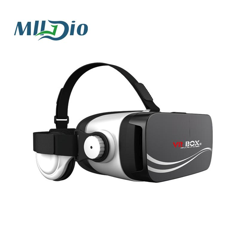 159a8b05fd0 Mlldio Newest VR BOX 3.0 Virtual Reality Google Cardboard With Headphone  For 3.5 6.0   Smart Phone Vr Headset 3D Glasses Diy 3d Glasses Homemade 3d  Glasses ...
