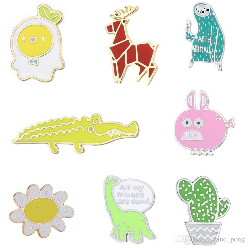 Cute Animal Small Size Hard Enamel Brooches Pins Lapel Pins For Boy Girl Men Women Clothes Backpack Hat Jacket Badge New Fashion Wholesale