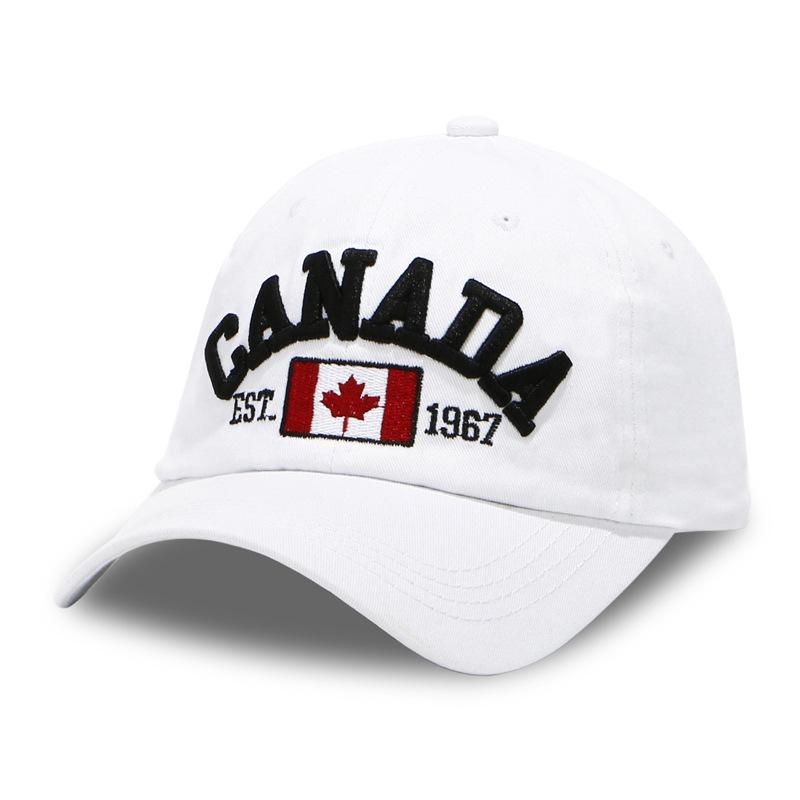Compre Gorra De Béisbol Hombres Sombrero De Papá Para Mujeres Bandera De  Canadá Gorra Completa Deporte Color Sólido Curva Visera Marca Hombre Hueso  Equipado ... fa557f9eb2bb