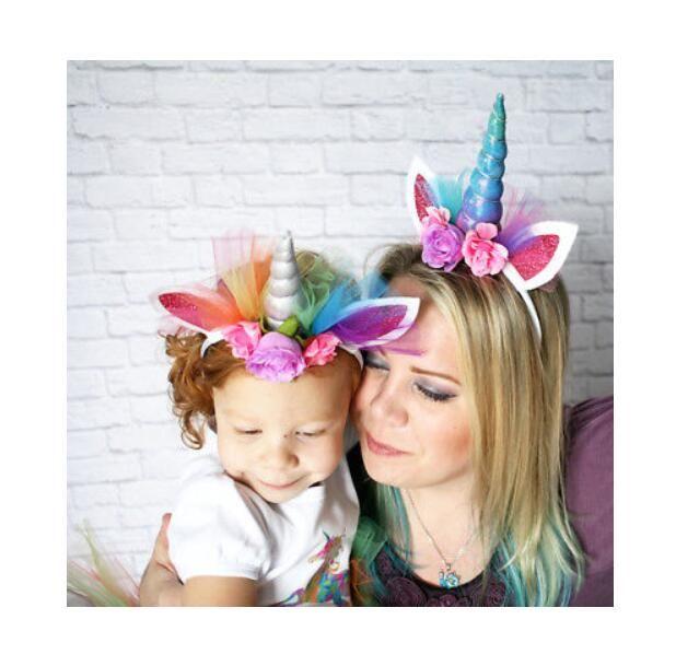 Unicorn Horn Halloween | Faroot Lovely Elastic Flower Lace Unicorn Horn Headdress Girls