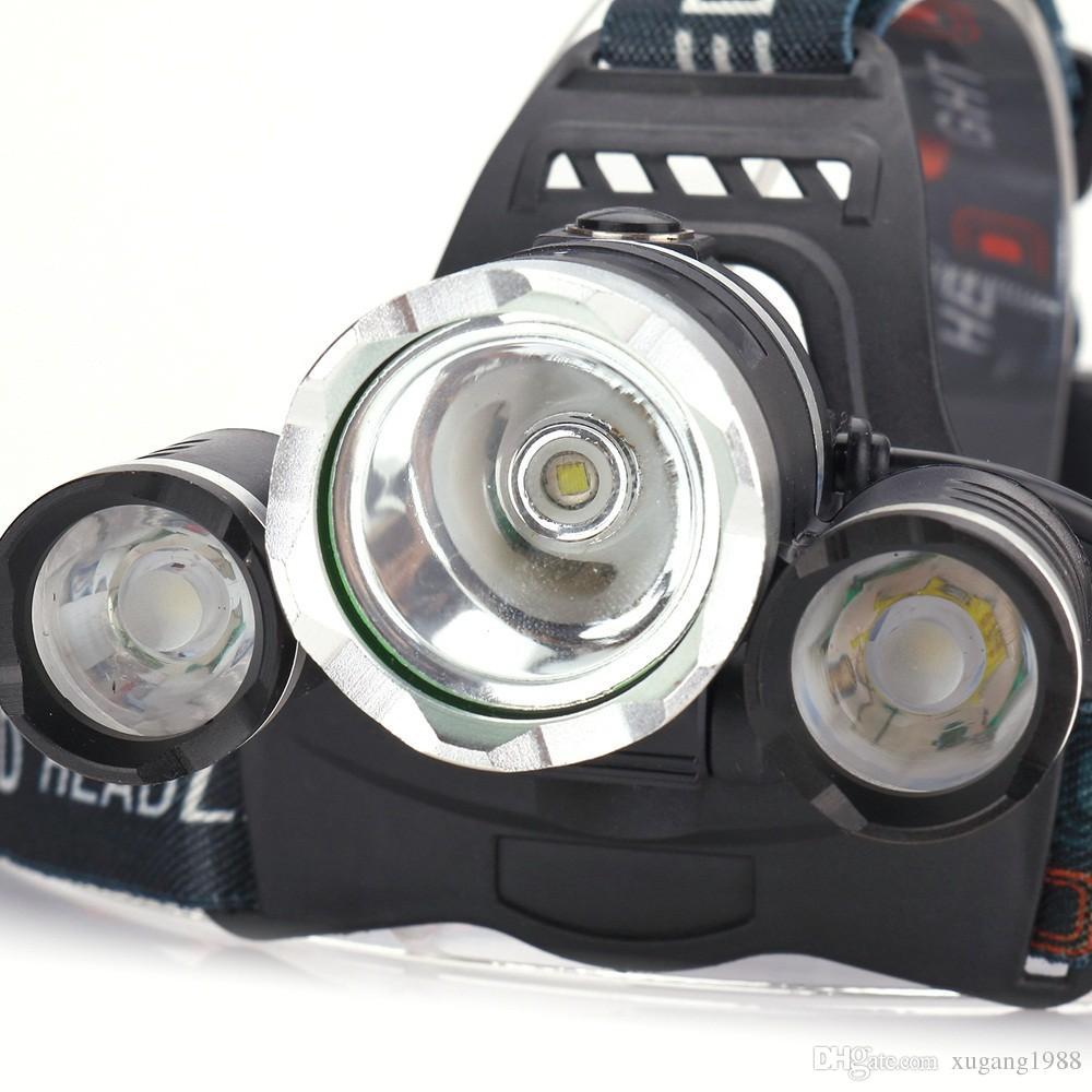 8000LM high Led lighting Head Lamp 3T6 Boruit LED Headlamp Headlight Camping Fishing Torch Lanterna Headlamp night Rechargeable by 2x 18650