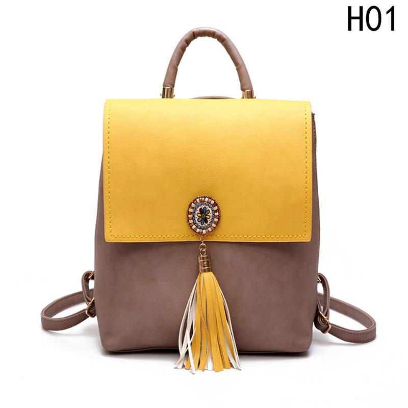 b12722115022 For Girls Women`s Backpack PU Leather Female Backpack Women Small Fashion  Tassel Fashion Shoulder Bag Cute School Bags Personalized Backpacks Hunting  ...