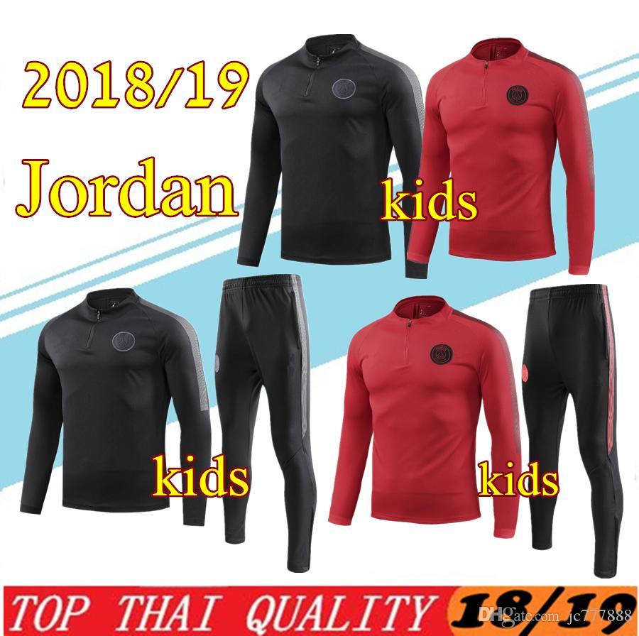 54545c6b3ba21 Survêtement PSG new Paris 2018 2019 KIDS soccer Survêtement 18 ...