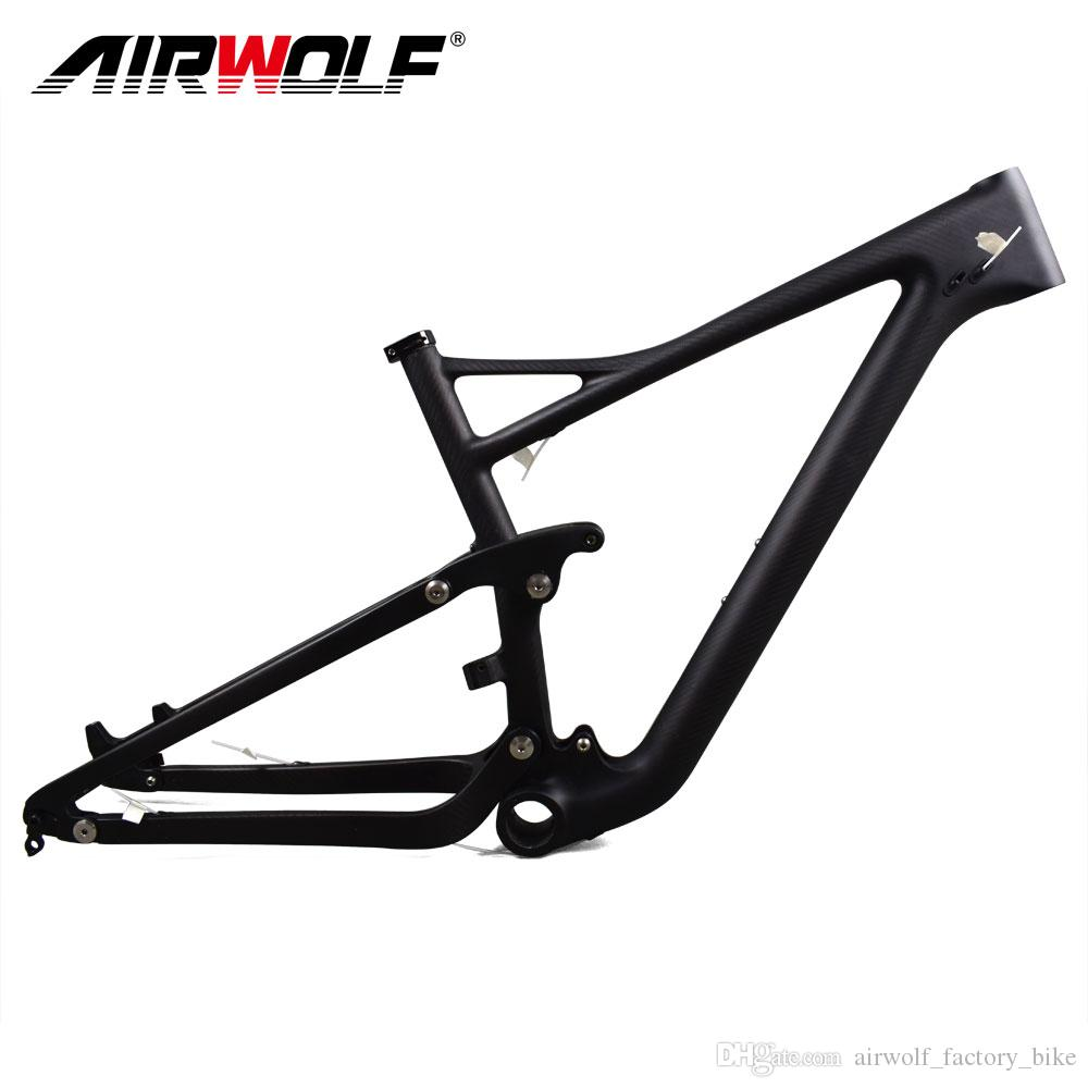 airwolf carbon mtb frame toray t1000 carbon suspension trail bike 29 max tire size 29er24 bicycle frame 29 carbon 29er bike frames racing bike frames from - Mtb Frames