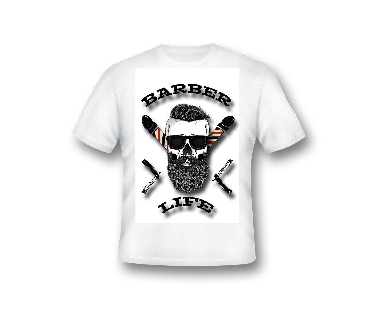 new styles 7959d 0949e Salon de coiffure T shirt,moderne Barber Life chemise, homme, vêtement, 73  Funny Men Classic Casual Tee Shirts 100% cotton short sleeves