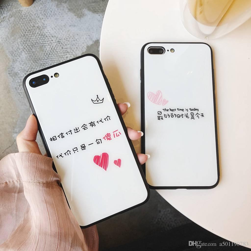 Love Words Quotes Cover Glphone Case For Iphone   X Plus Cell Case Chinese Quotes Case Gift Protective Cell Phone Cases Reiko Cell Phone Case