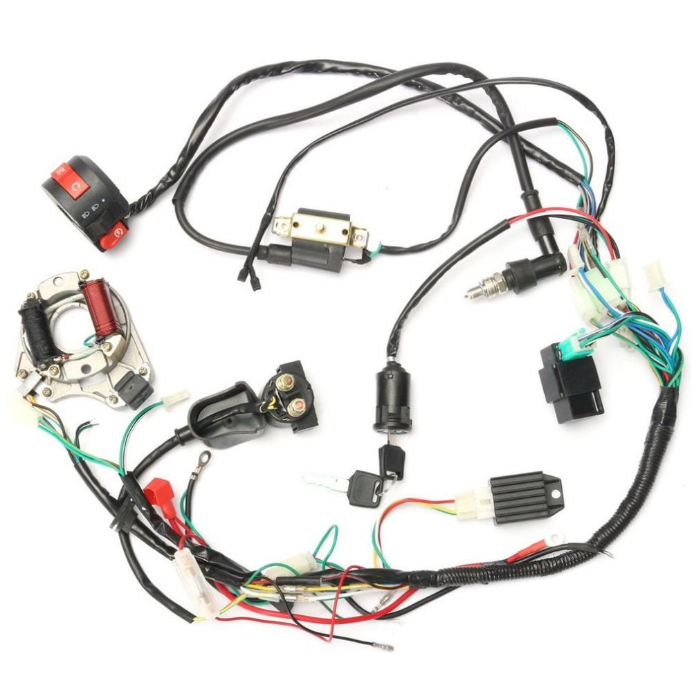 New Professional Motorcycle CDI Wiring Harness Loom Ignition Solenoid Coil  Rectifier For 50cc 125cc PIT Quad Dirt Bike ATV Cheap Full Face Helmets  Cheap ...