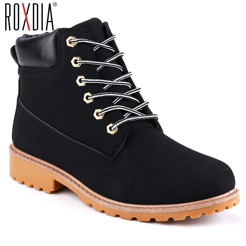 b61af32130 Compre ROXDIA Otoño Invierno Mujeres Botines Nueva Moda Mujer Botas De Nieve  Para Niñas Zapatos De Trabajo De Damas Más Tamaño 36 41 RXW762 A  33.66 Del  ...