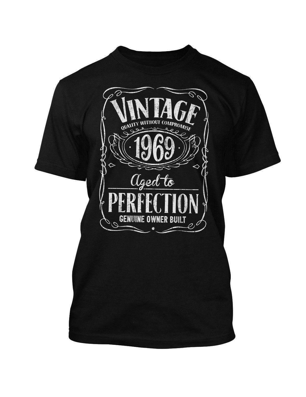 Grosshandel Jahrgang 1969 Geburtstag Jahr Jack Daniels Stil T Shirt