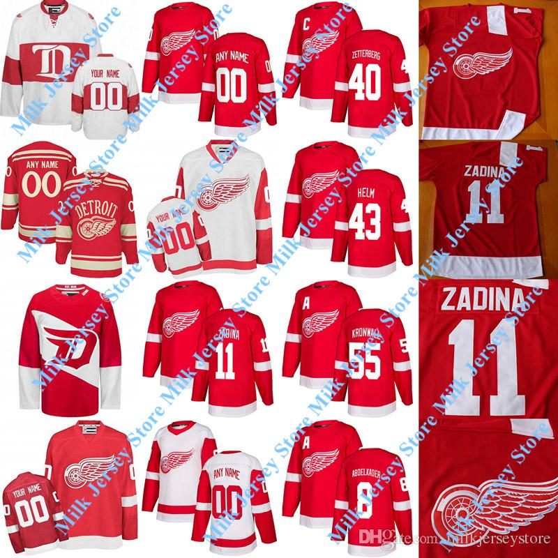 45bc1d617 2019 Detroit Red Wings Jersey Filip Zadina Jimmy Howard Dylan Larkin Gustav  Nyquist Anthony Mantha Mike Green Tyler Bertuzzi Alex Delvecchio Howe From  ...