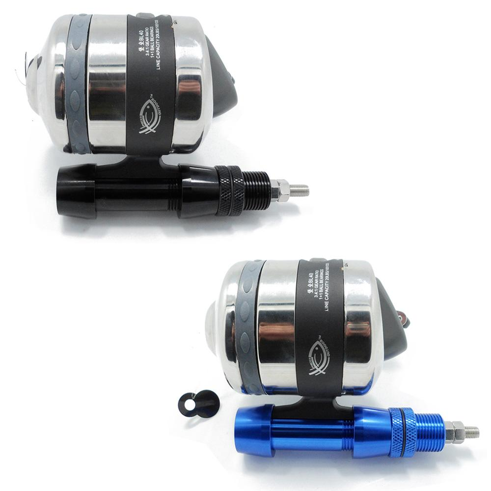 Fishing Combo Fishing Reel Spincast Reel With Fishing Reel Seat Gear Ratio 3.4:1 for Compound Bow