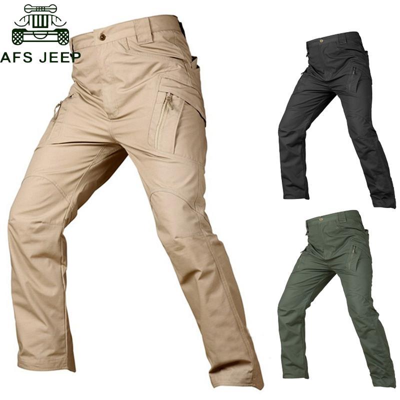 Compre IX7 IX9 Pantalones Tácticos Pantalones Cargo Hombres Pantalones  Casuales Pantalón De Trabajo Pantalon Estilo De Ejército Pantalon Holgado  De Combate ... 75c3ae61eb2