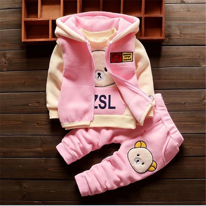 fe8b6e880 2019 BibiCola Baby Clothing Sets Children Cartoon Bear Winter Cotton ...