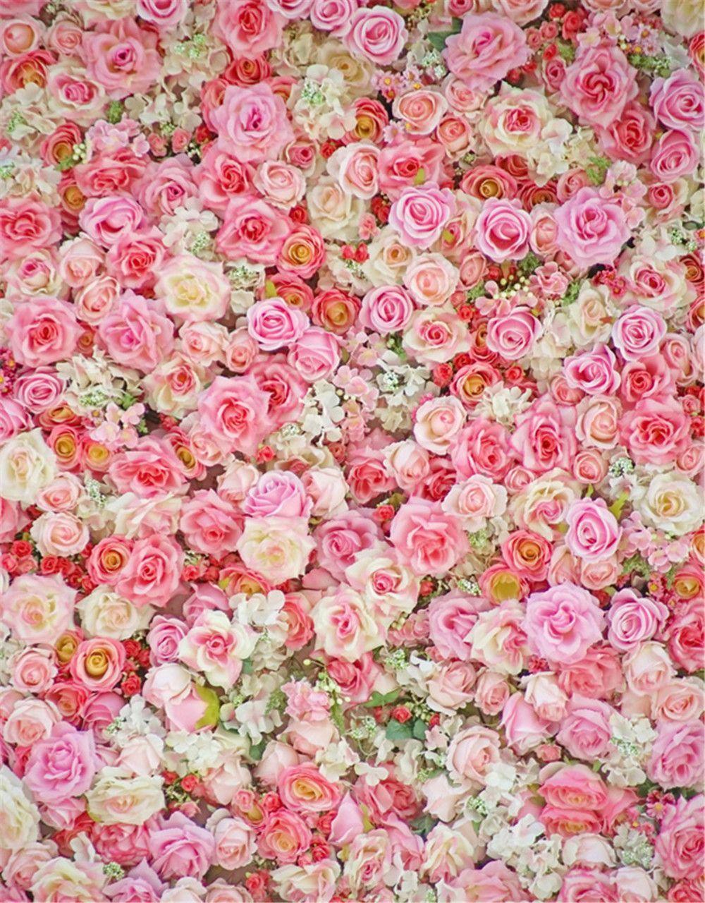 2019 Digital Printing Pink Roses Wall Photography ...